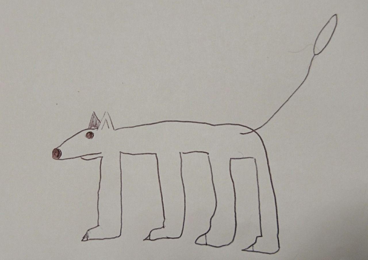 シロクマじゃありません 犬です(笑)
