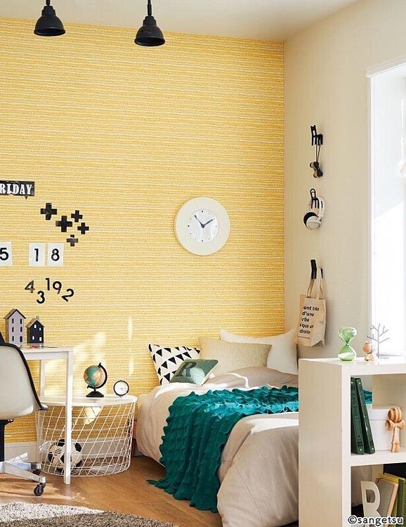 可愛らしいポップな印象の部屋