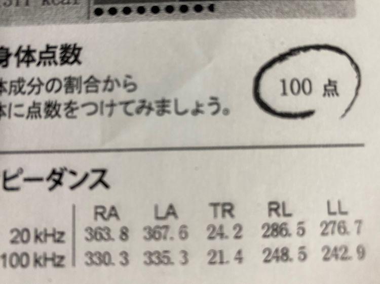 In-Body検査表