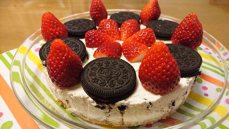 オレオチーズケーキでお祝い♪
