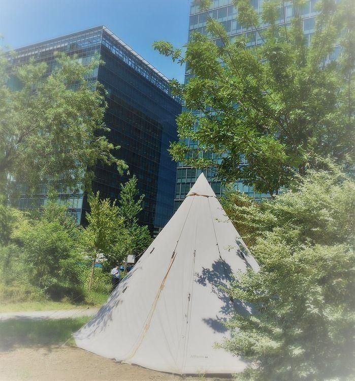 グランピングもできちゃいそうなテント!(^^)! 周りはビルばかりなのに緑がいっぱいのお店で素敵でした(*^▽^*)